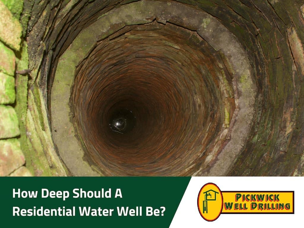 How Deep Residential water
